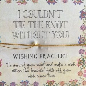 Natural life I couldn't tie the knot without you Bundle of 3 Bridesmaids gifts